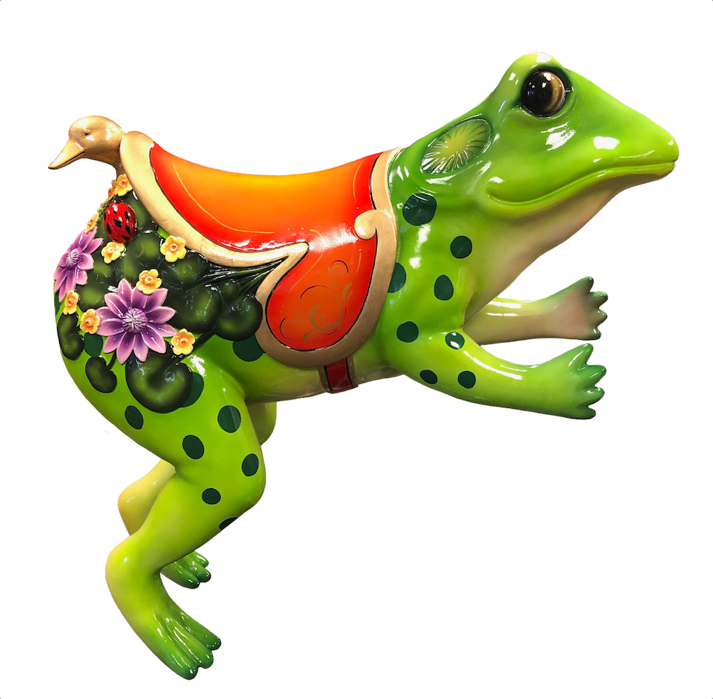 CB428 - Tree Frog Jumping Carousel Animal