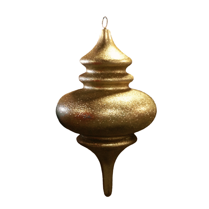 "Gold Glitter 30"" Finial Ornament"